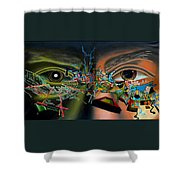 The Surreal Bridge Shower Curtain