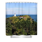 The Swallowtail Lightstation Shower Curtain
