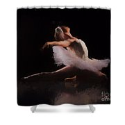 The Swan  Shower Curtain by Rosario Piazza