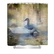 The Swans Shower Curtain