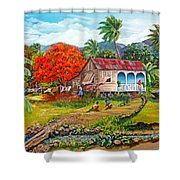 The Sweet Life Shower Curtain by Karin  Dawn Kelshall- Best