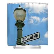 The Sweetest Street Corner In The World Shower Curtain