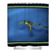 The Swimmer Shower Curtain