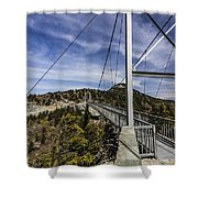 The Swinging Bridge Of Grandfather Mountain Shower Curtain