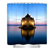 The Swiss Castle Shower Curtain