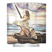 The Sword And The Bride Shower Curtain