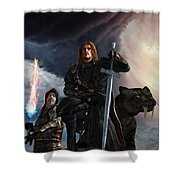 The Sword Of The South Shower Curtain