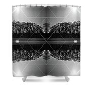 The Symmetry Of Light  Shower Curtain