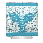 The Tail Of The Dotted Whale Shower Curtain