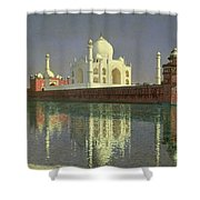 The Taj Mahal Shower Curtain by Vasili Vasilievich Vereshchagin