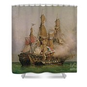 The Taking Of The Kent Shower Curtain by Ambroise Louis Garneray