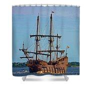 The Tall Ship El Galeon Shower Curtain