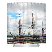 The Tall Ship Hermione - Philadelphia Pa Shower Curtain