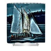 The Tall Ship Lavengro Shower Curtain