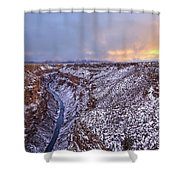 The Taos Gorge Shower Curtain