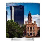 The Tarrant County Courthouse Shower Curtain