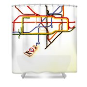 The Tate Gallery - National Galleries And Museums - London Underground - Retro Travel Poster Shower Curtain