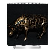 The Tattooed Cow Shower Curtain