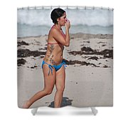 The Tattooed Lady Shower Curtain