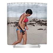 The Tattooed Ladys Peek A Boo Shower Curtain
