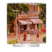 The Tavern On The Plaza - Spain Shower Curtain
