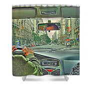 the Taxi Driver Shower Curtain