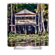 The Tea Room Shower Curtain by Lana Trussell
