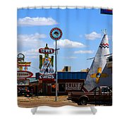 The Tee-pee Curios On Route 66 Nm Shower Curtain