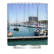 The Tel Aviv Marina  Shower Curtain