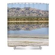 The Temblor Range Is Reflected In Soda Shower Curtain