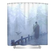 The Temple Calling Shower Curtain