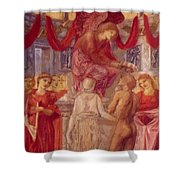 The Temple Of Love Shower Curtain