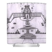 The Temple Of Religions Shower Curtain