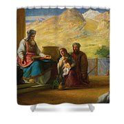 The Temple Of The Jews Shower Curtain