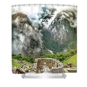 The Temple Of The Sun. Machu Picchu Shower Curtain