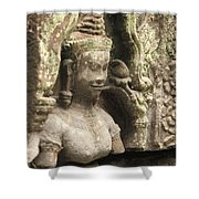 The Temples Of Angkor, Preah Khan Shower Curtain