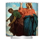 The Temptation Of Christ By The Devil Shower Curtain