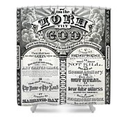 The Ten Commandments 1876 Vintage Poster Restored Shower Curtain