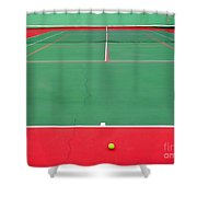 The Tennis Court Shower Curtain