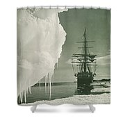 The Terra Nova At The Ice Foot Cape Evans Shower Curtain