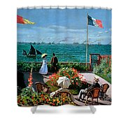 The Terrace At Sainte Adresse Shower Curtain