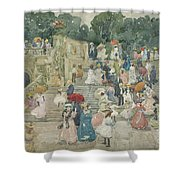The Terrace Bridge, Central Park Shower Curtain