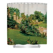 The Terrace Central Park New York Shower Curtain