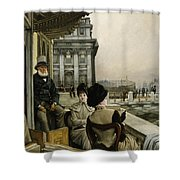 The Terrace Of The Trafalgar Tavern Greenwich Shower Curtain