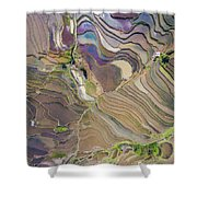 The Terraces Of Yuanyang China Shower Curtain