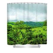 The Terrain Of Costa Rica  Shower Curtain