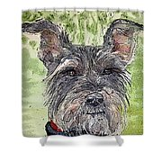 The Terrier Shower Curtain