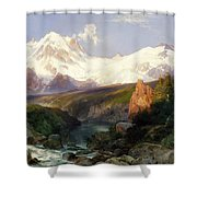 The Teton Range, 1897 Shower Curtain