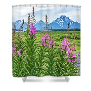 The Tetons Are Grand Shower Curtain