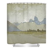 The Tetons, Idaho, 1879 Shower Curtain